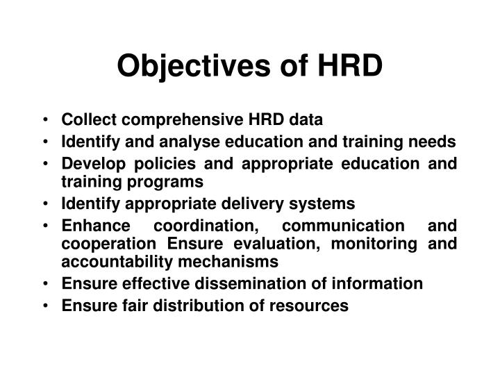 objectives of hrd