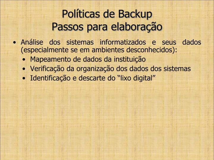 Políticas de Backup