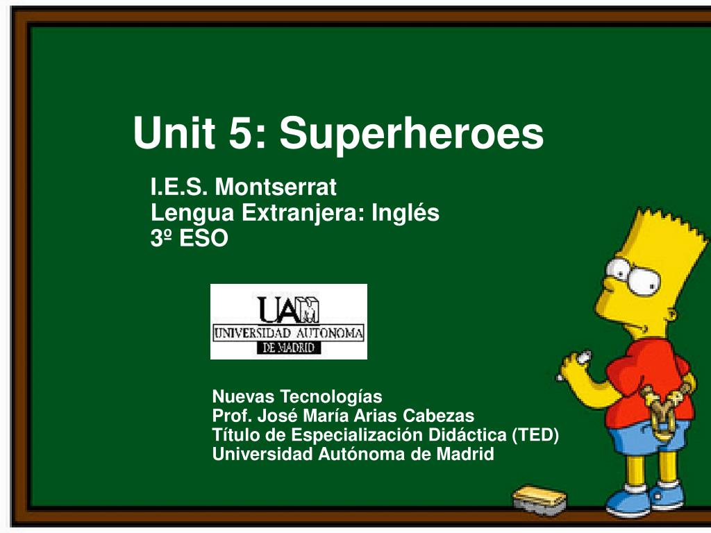 ppt unit 5 superheroes powerpoint presentation id 4873149