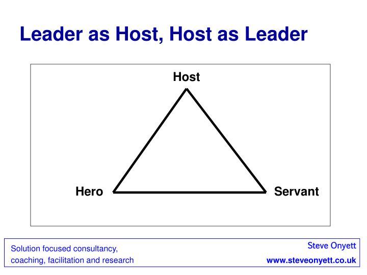 Leader as Host, Host as Leader