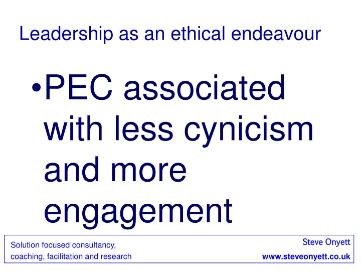 Leadership as an ethical endeavour
