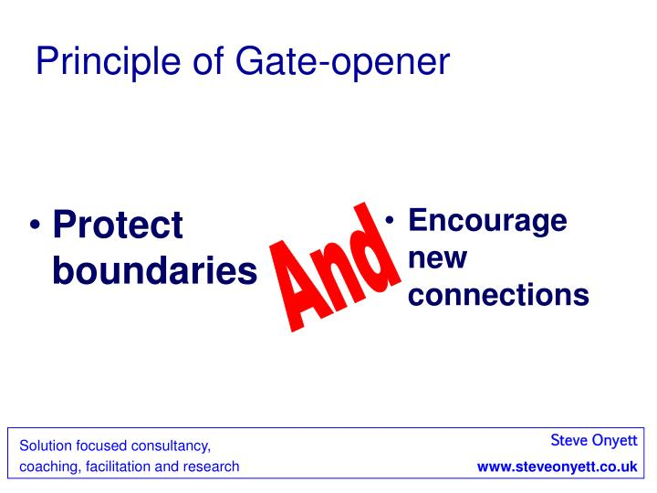 Principle of Gate-opener