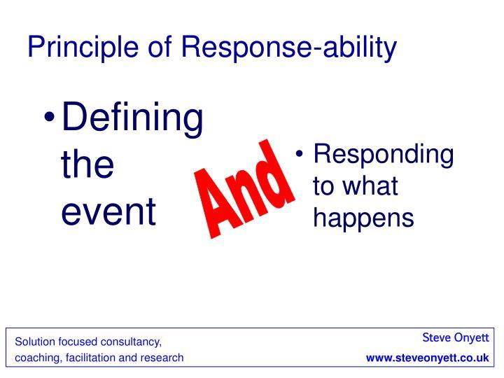 Principle of Response-ability