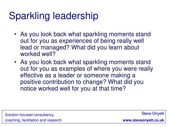 Sparkling leadership