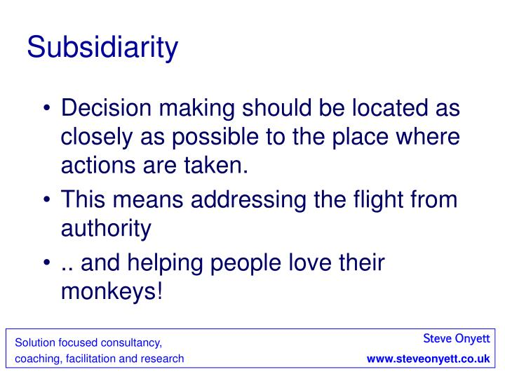 Subsidiarity