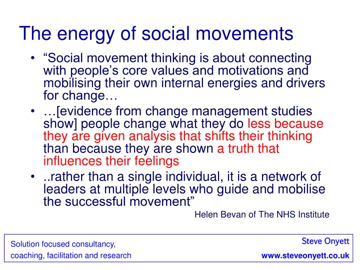 The energy of social movements