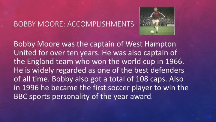 Bobby moore accomplishments