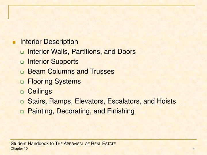 Interior Description