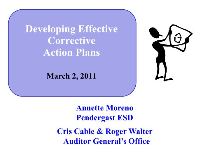 Developing effective corrective action plans march 2 2011