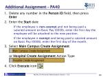additional assignment pa40