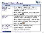 change in status infotypes1