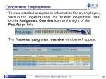 concurrent employment1