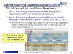 delimit recurring payments deducts 0014
