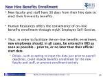 new hire benefits enrollment