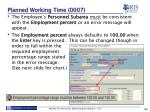 planned working time 00071