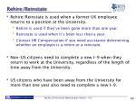 rehire reinstate