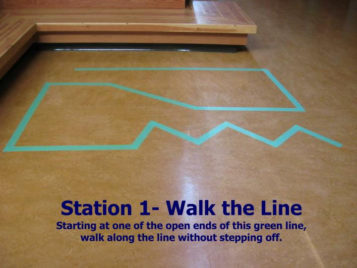 Station 1- Walk the Line