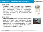 experience telemedicine projects1