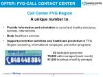 offer fvg call contact center