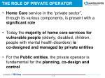 the role of private operator3