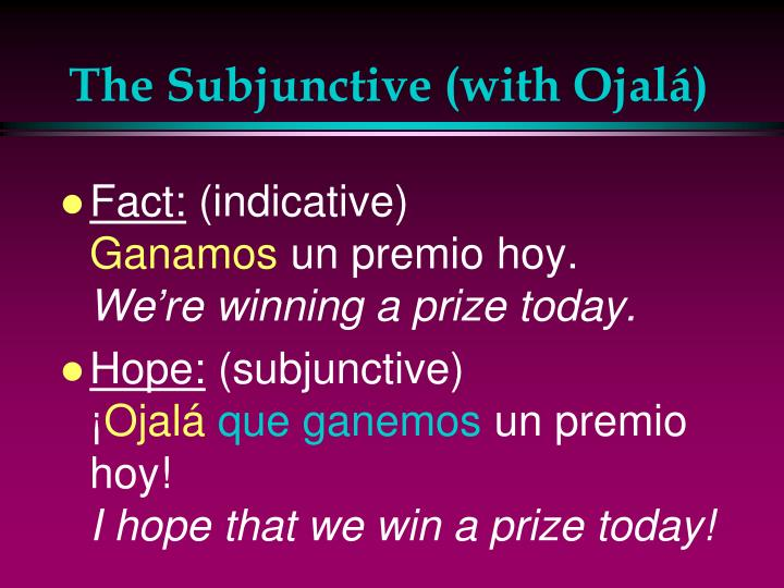 The Subjunctive (with