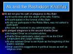 ali and the rashidoon khalifas