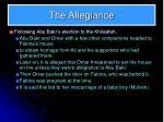 the allegiance