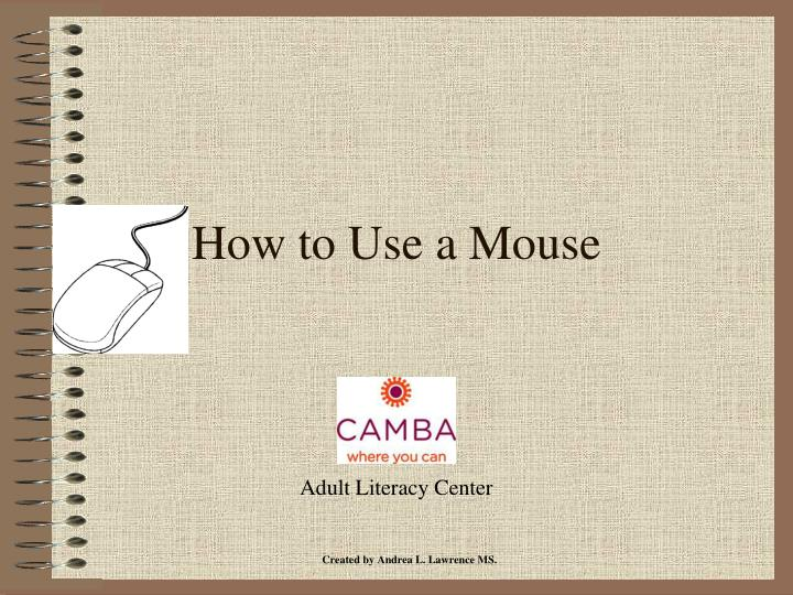 how to use a mouse n.