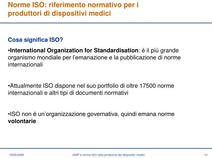 Norme ISO: riferimento normativo per i produttori di dispositivi medici
