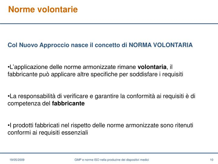 Norme volontarie