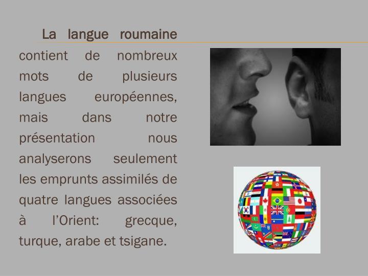 La langue roumaine