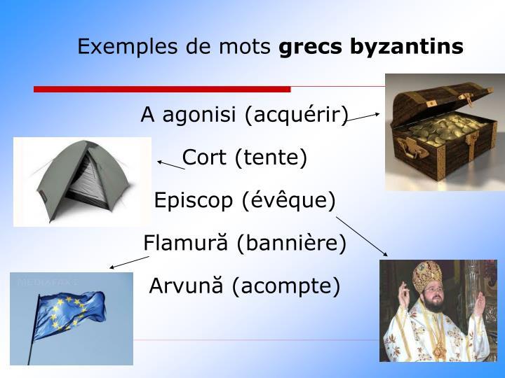 Exemples de mots