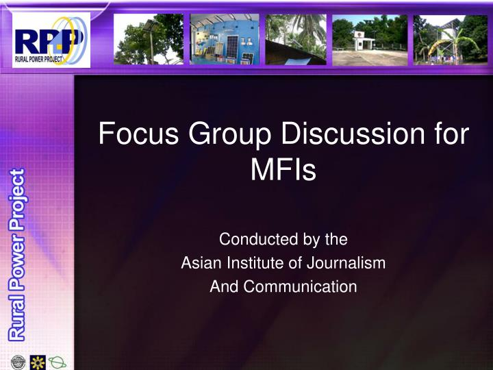 focus group discussion for mfis n.