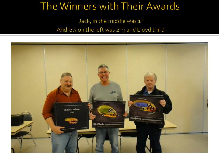 The Winners with Their Awards