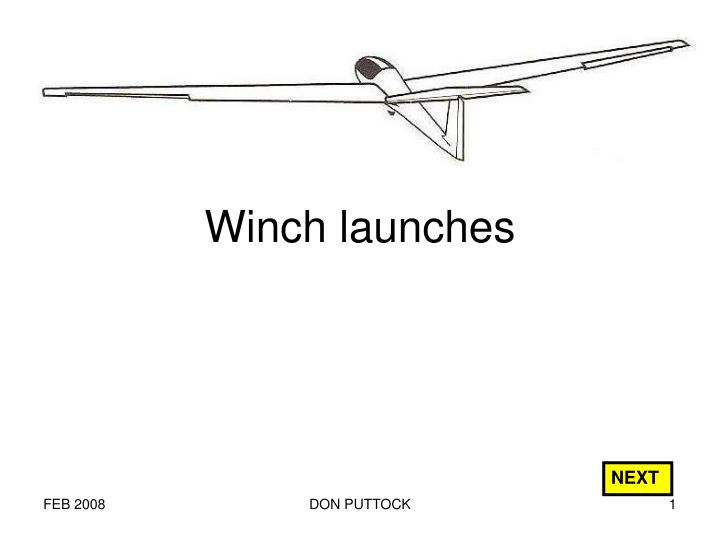 winch launches n.