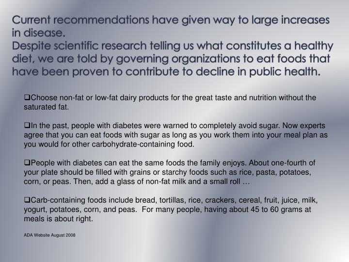 Current recommendations have given way to large increases in disease.