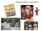 christmas carols songs and shows