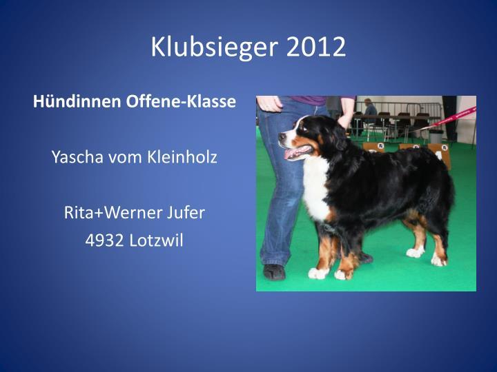 Klubsieger 20121