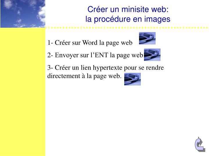 Créer un minisite web: