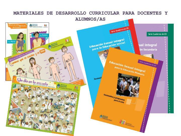 MATERIALES DE DESARROLLO CURRICULAR PARA DOCENTES Y ALUMNOS/AS