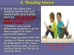 4 reading teams