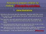 activities to prepare children for reading pre reading activities