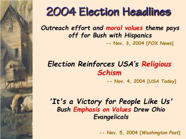 2004 Election Headlines
