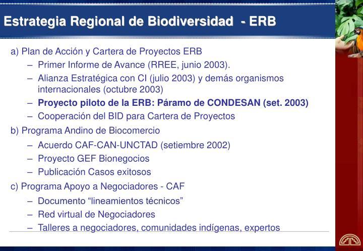 Estrategia Regional de Biodiversidad  - ERB