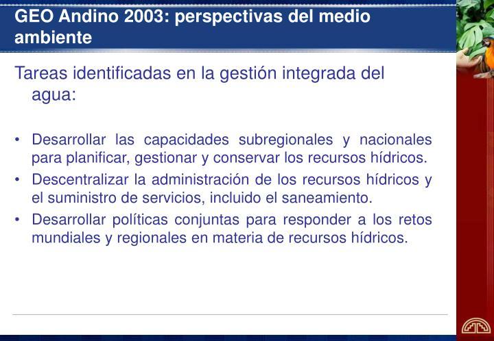 GEO Andino 2003: perspectivas del medio ambiente