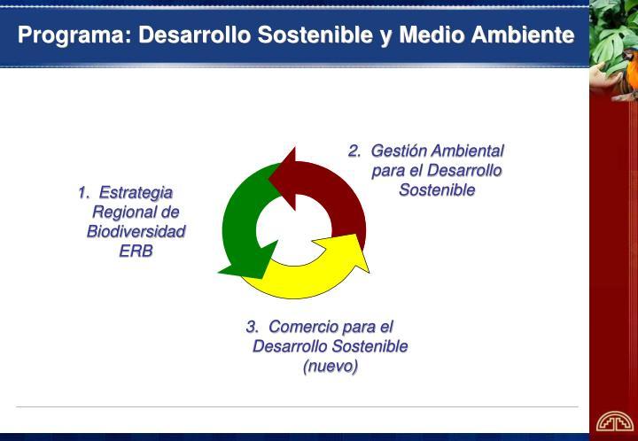 Programa: Desarrollo Sostenible y Medio Ambiente