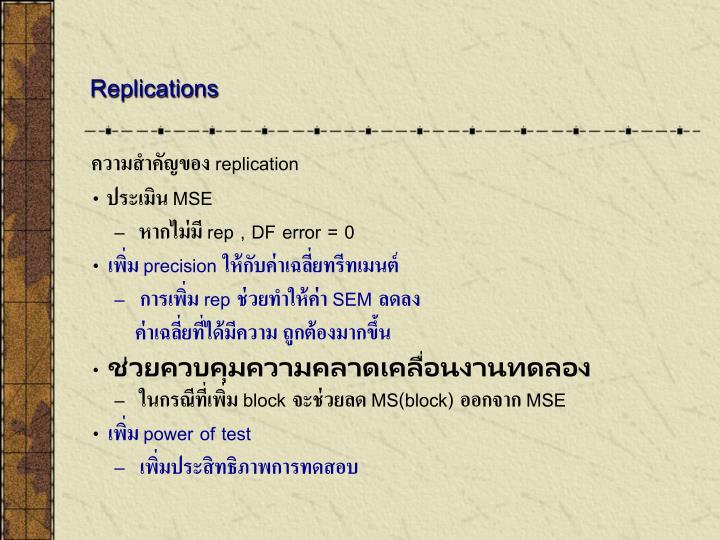 Replications