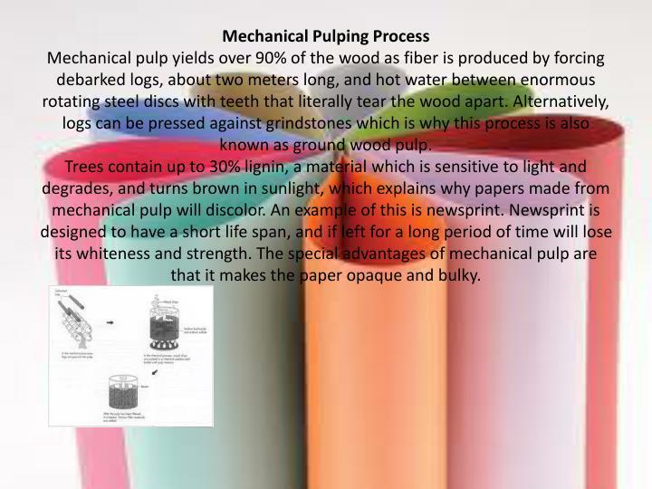 Mechanical Pulping Process