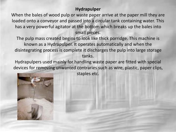 Hydrapulper