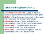drive train systems part 1